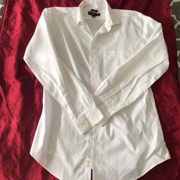 532a160c7 Pronto Uomo Shirts | Men White Dress Shirt Tall 165 3637 | Poshmark